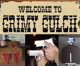 Shoot 'Em Up Game With Pneumatics & Wiimotes