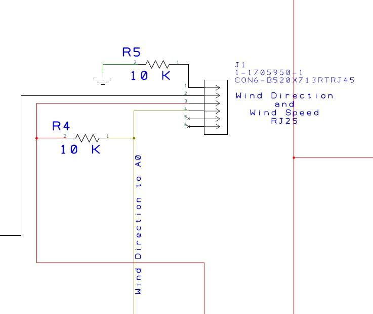 Picture of Wind and Rain Sensors Layout