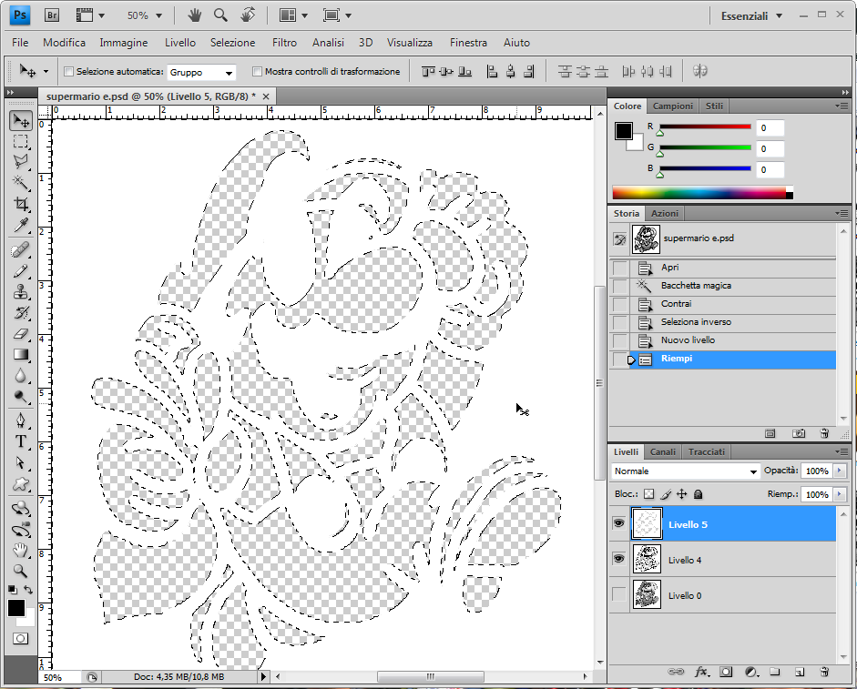 Picture of Optional: Add a Thin White Space Between Outlines and Filling