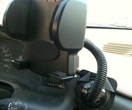 Custom phone/GPS car mount adapter