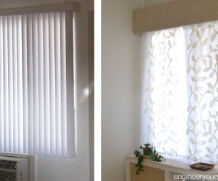 Vertical Blinds Hack to Hang Curtains