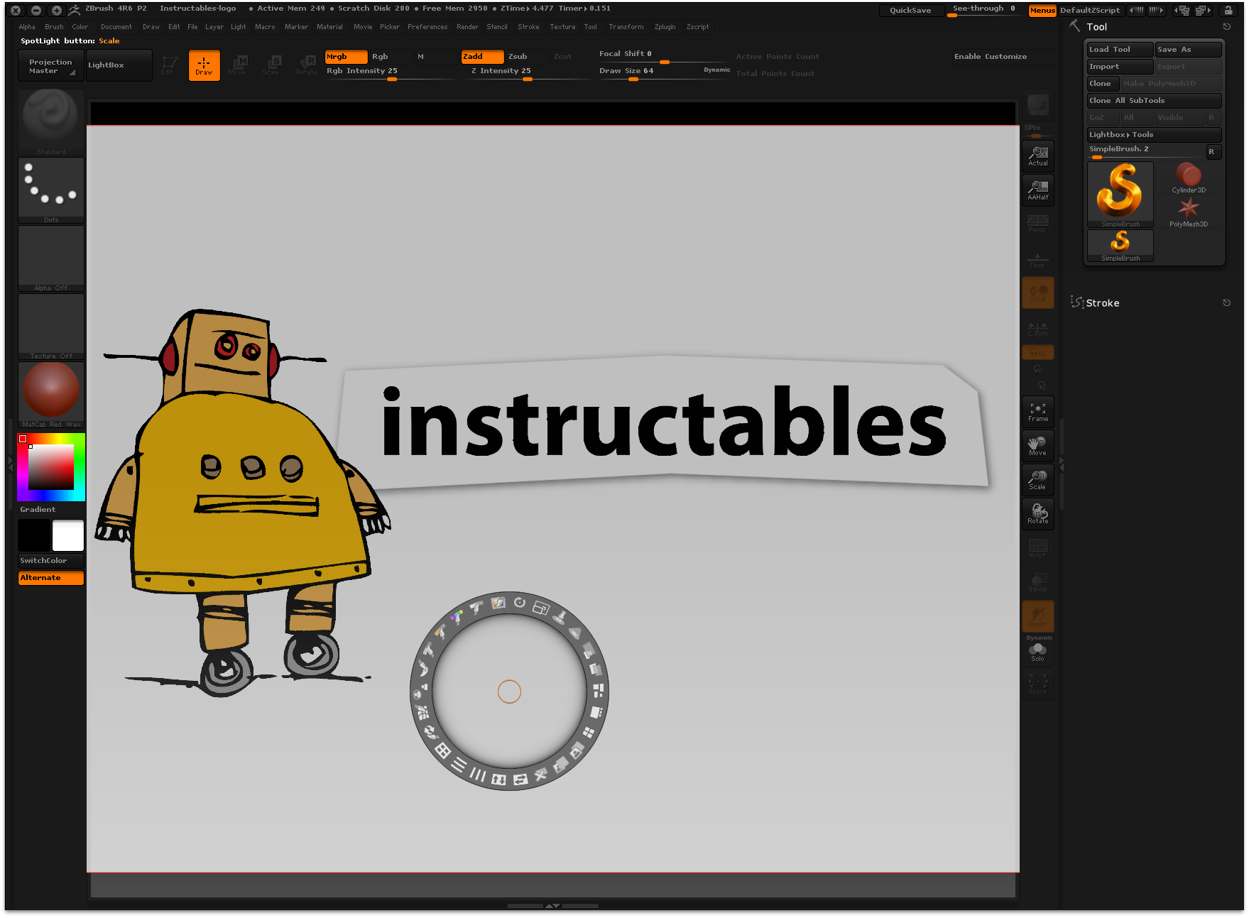 Picture of Import the Logo Into a 3D Design App and Set Up the Reference Image