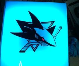 SJ Sharks Light Box
