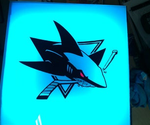 SJ Sharks Light Box