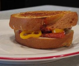 Pan Fried Cheesy Italian Sandwich