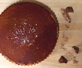 Chocolate Salted Caramel Shortbread Twix Tart