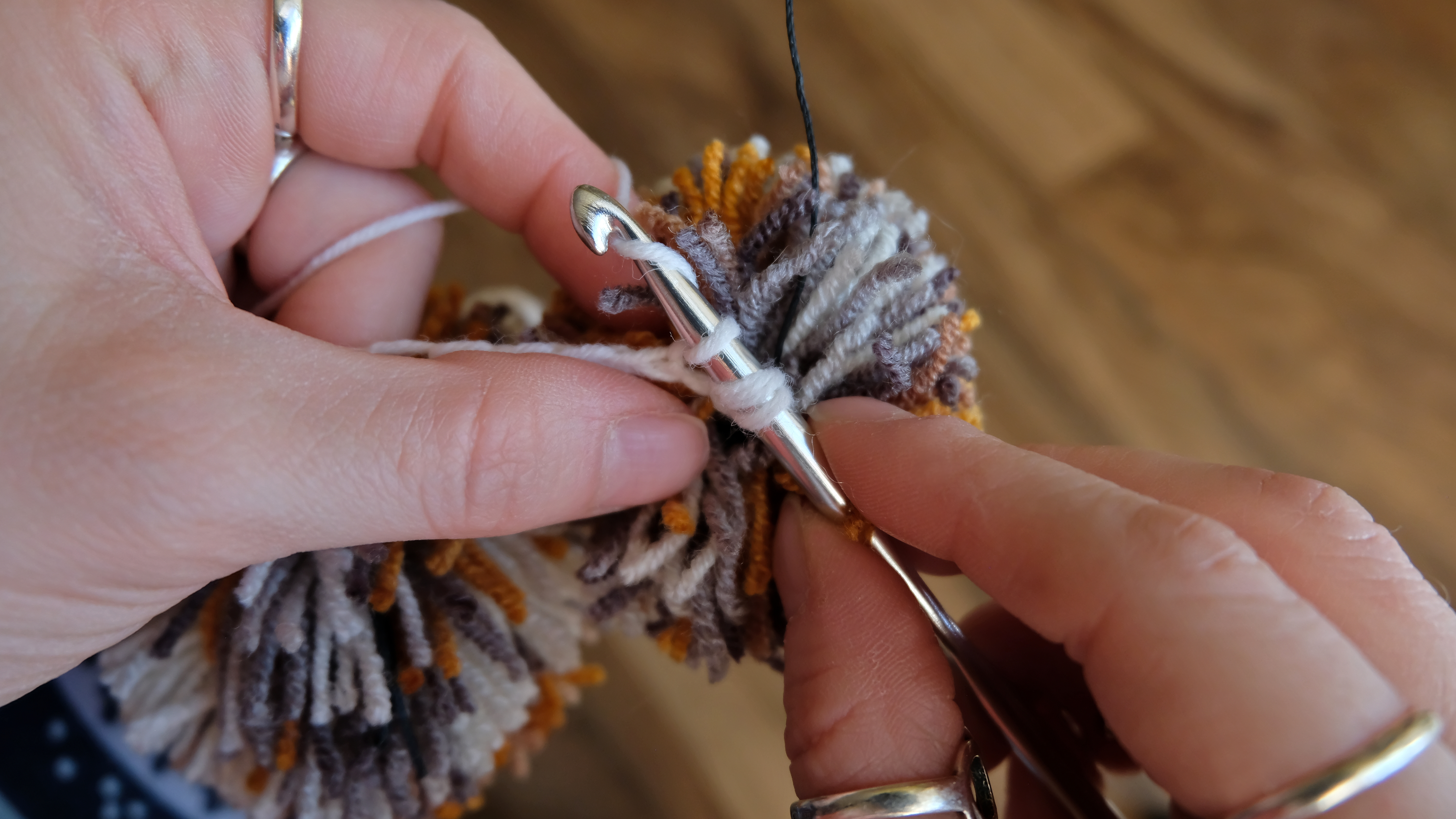 Picture of Crocheting. Сolumns With a Crochet