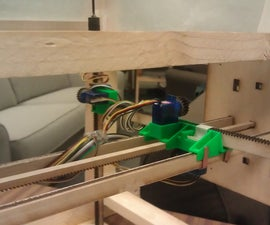 Laser-Cut Wooden 4 Axis Positioning System
