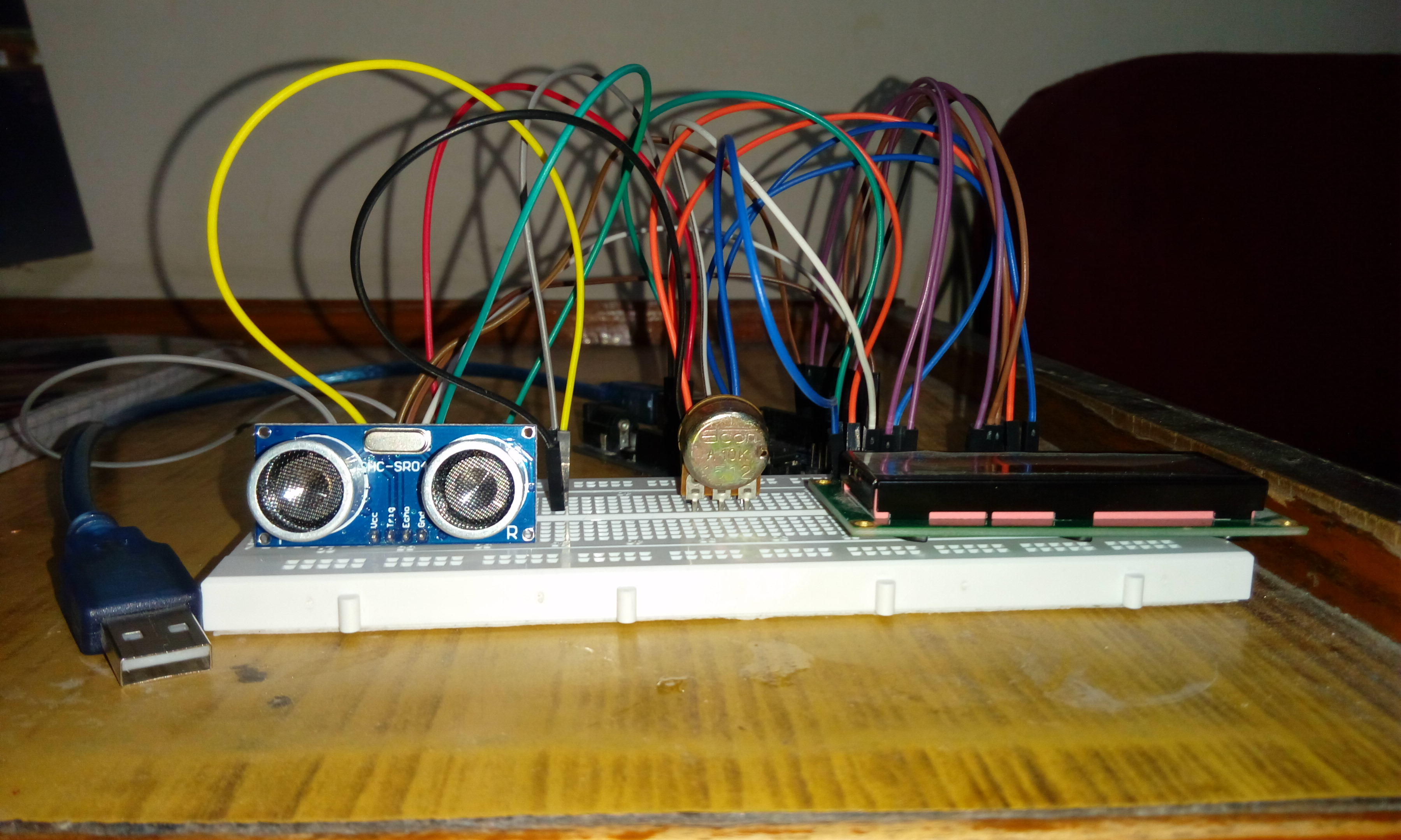 Picture of Ultrasonic Range Finder Using Arduino