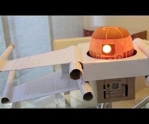 R2D2 Pumpkin Xwing With an Arduino