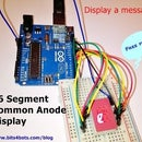 Message on an Alphanumeric Display| Arduino