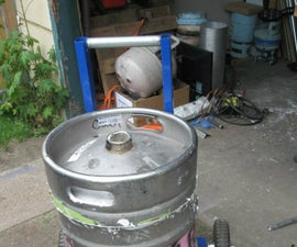 Beer Keg Metal Melting Furnace