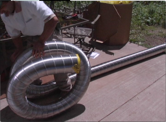 Picture of Unroll Chimney Liner Coil