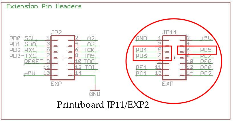 Picture of Hardware Connection to Printrboard