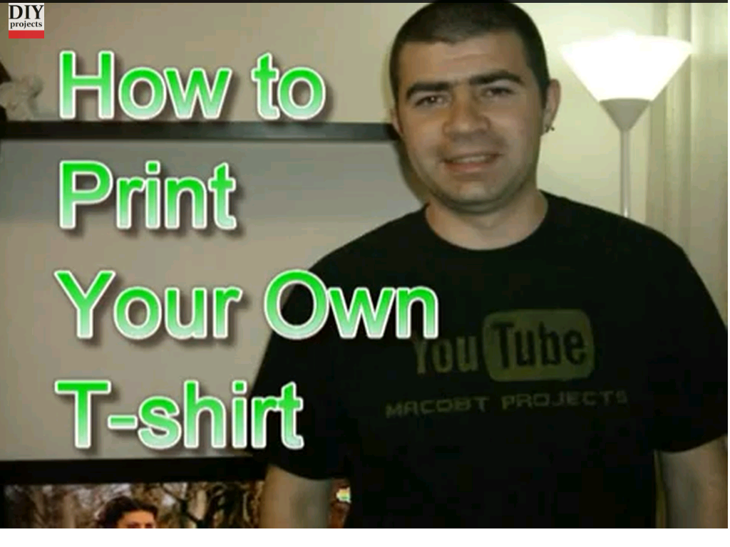 How To Print Your Own T Shirt