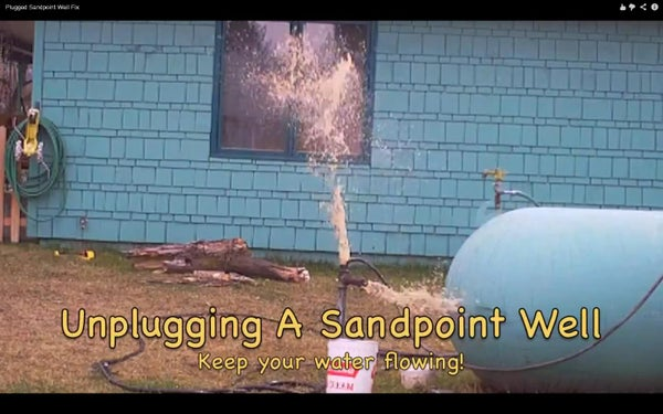 Un-plugging a Sandpoint Well
