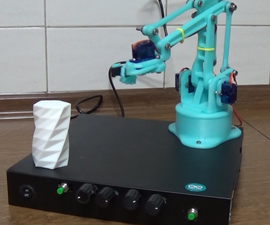 Arduino Robotic Arm - 3D Printed - With Grab
