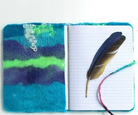 DIY Hand Felted Journal Cover