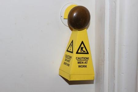 Caution Cone (Door Hanger/Table Top Sign)