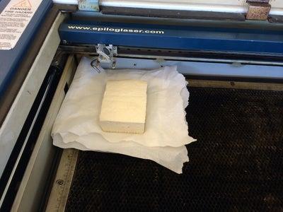 Place Tofu in Laser Cutter