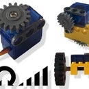 Servo-motor converted to motor (with speed & direction control)