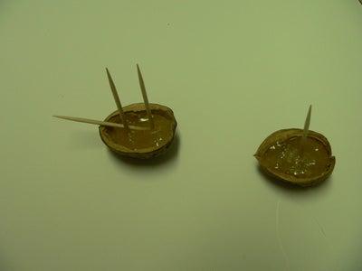 Glue Masts Into Shell