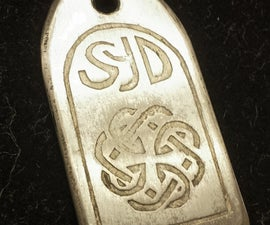 Daughter/Father Etched Pendant