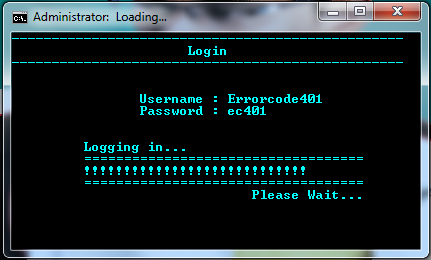 Picture of Simple Batchfile Login System With Loading Bar