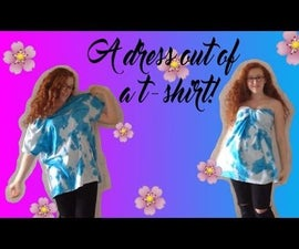 How to make a dress out of a t-shirt!