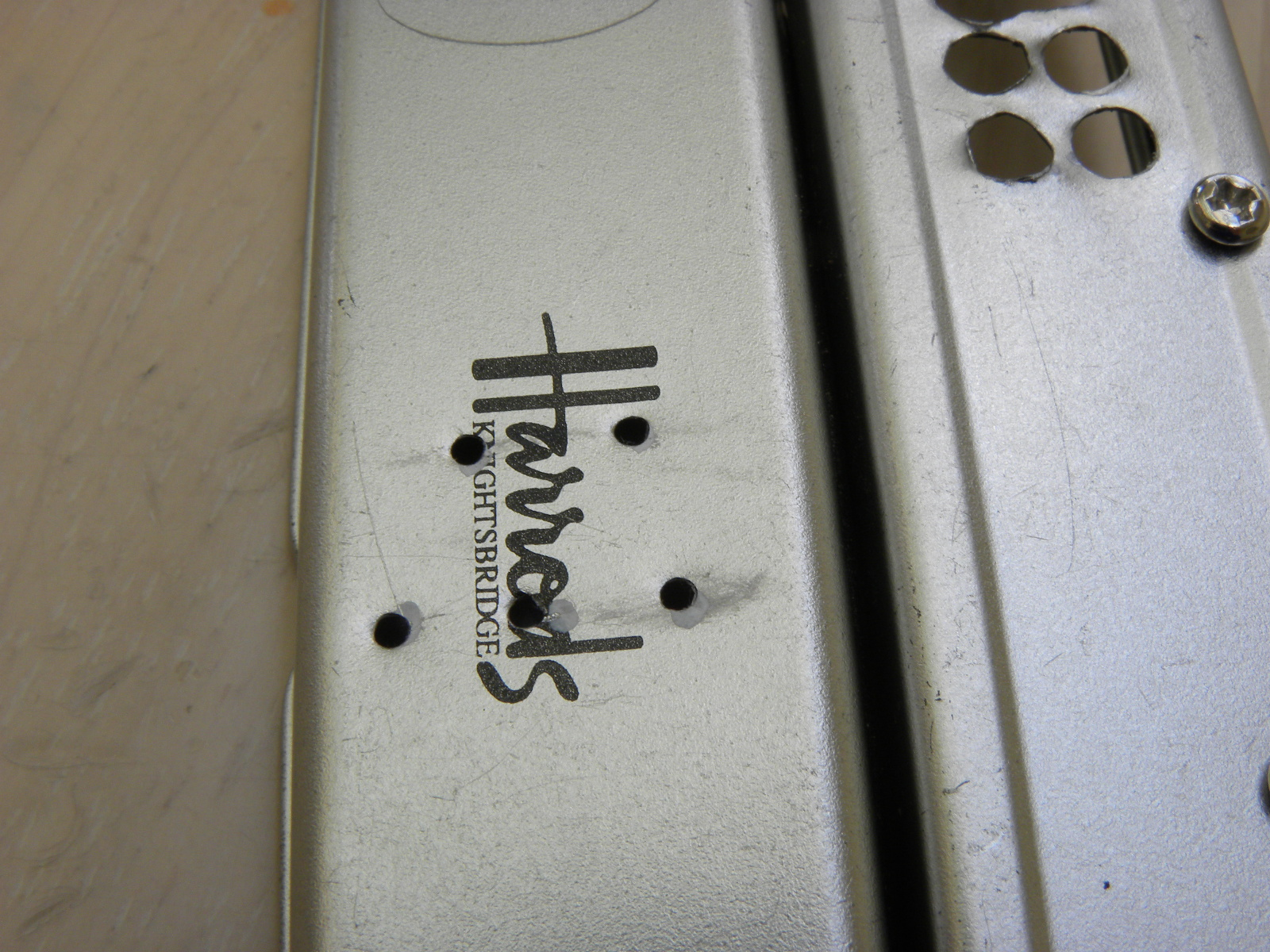 Picture of Drill Holes on the Case