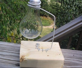 How to Hollow Out a Lightbulb and Make a Stand for It