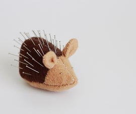 How to make a porcupine pin cushion