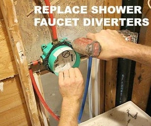 How to Replace Shower Faucet Diverters Without Soldering Copper Pipes!