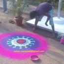 Rangoli Art... Easy steps in photo manner...........!!!!!