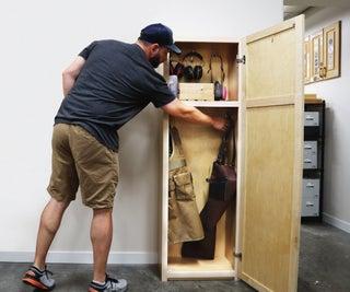 DIY Storage | Tall Shop Cabinet