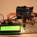Arduino Bluetooth remote lcd display