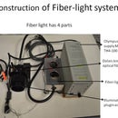 Fiber light for Olympus microscope
