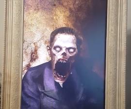 Living Portrait Scare for Halloween Using a Raspberry Pi, PIR and Python