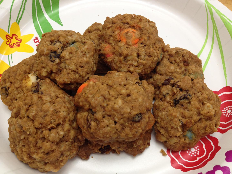 Picture of Smarties Oatmeal Cookies (Leftover Halloween Candies)