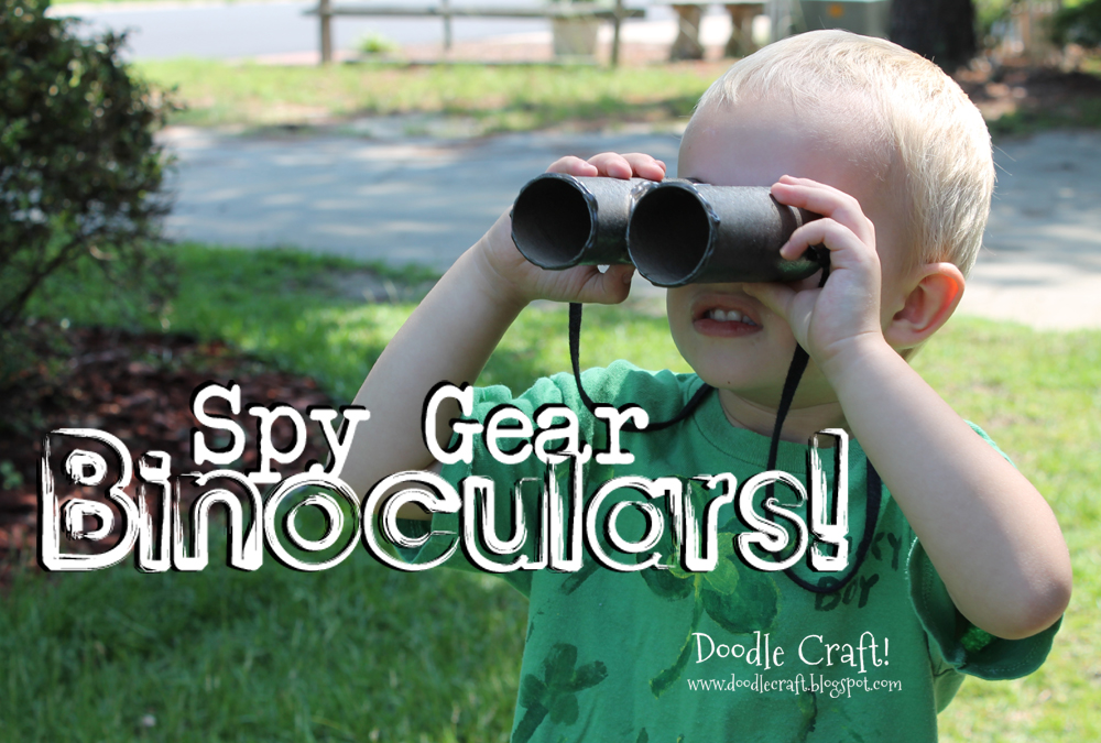 Picture of Spy Gear Binoculars!  Little Boy Crafts!  From Toilet Paper Rolls!