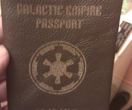 All leather, laser cut, Galactic Empire (Star Wars) passport wallet