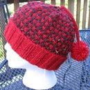 Tweed-look Pom Hat
