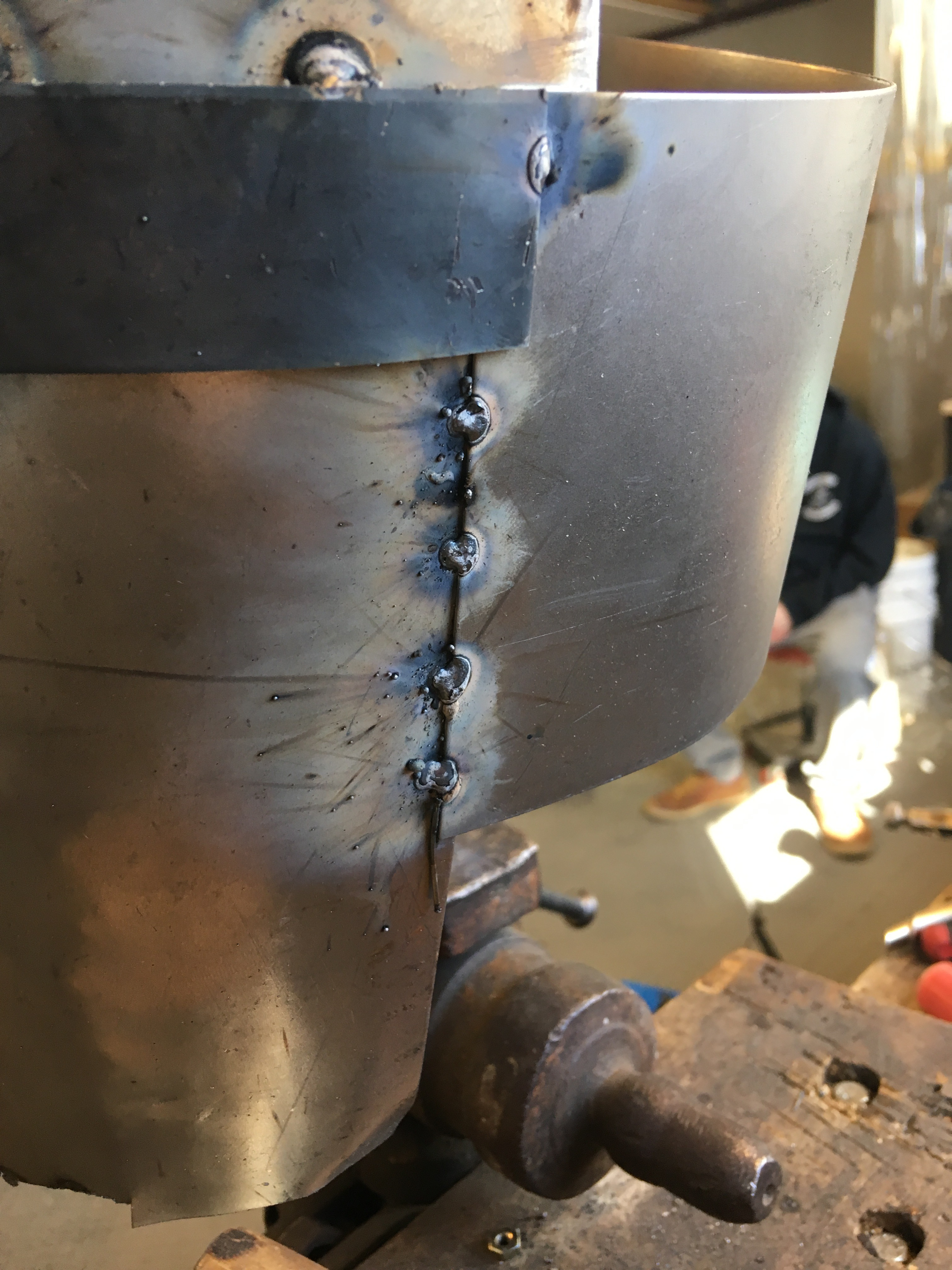 Picture of Welding of the Main Part of the Helmet