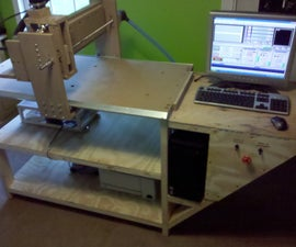 Homemade 2'x4' Wood CNC Router