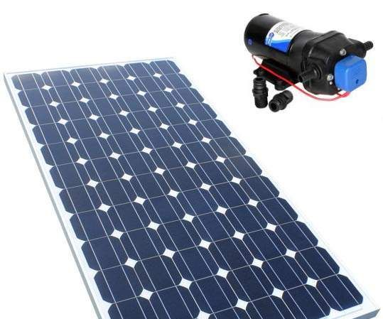 Solar Powered Water Pump With Speed Control Via Computer.