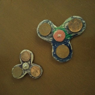 HOW TO MAKE FIDGET SPINNER UNDER 1$ WITH NO BALL BEARINGS