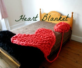 Giant Heart Blanket (or Rug)