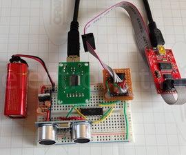 Talking to Ultrasonic Distance Sensor HC-SR04 using an ATtiny84