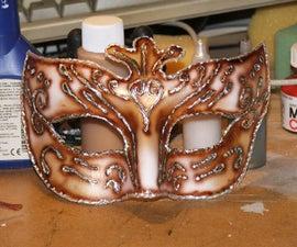 Cheap but convincing masquerade masks