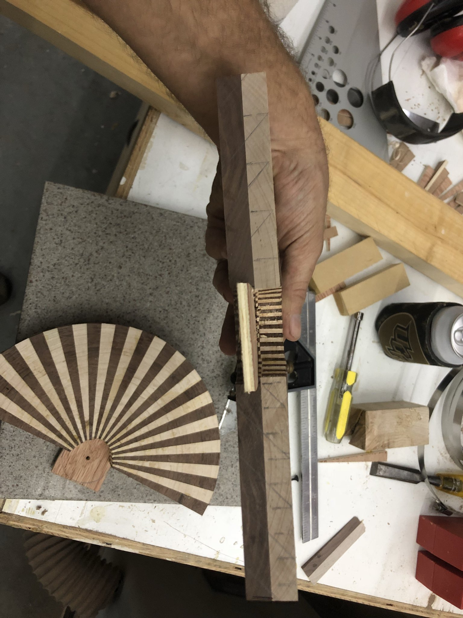 Picture of Preparing for the Ring Bevel Cuts